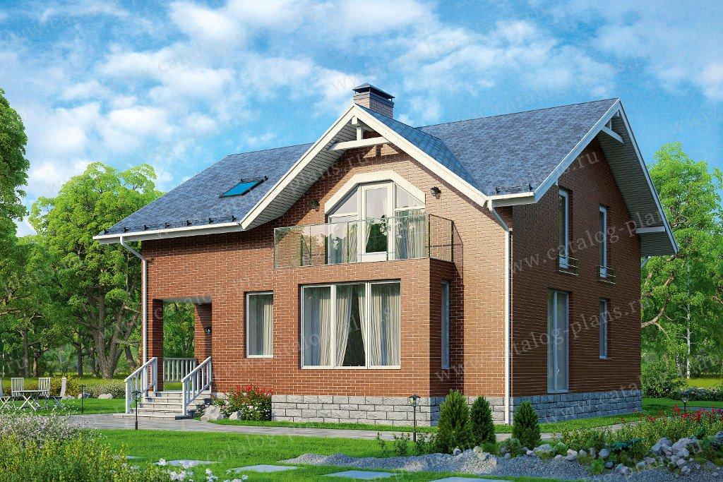 Проект жилой дом #57-67K материал - кирпич, стиль европейский
