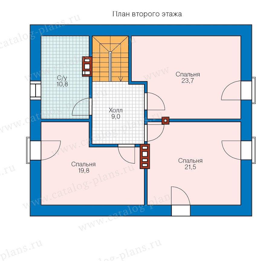 План 2-этажа проекта 57-67K