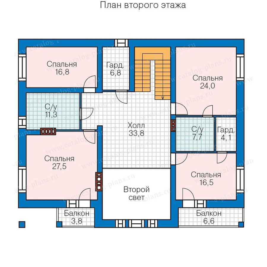 План 3-этажа проекта 40-32