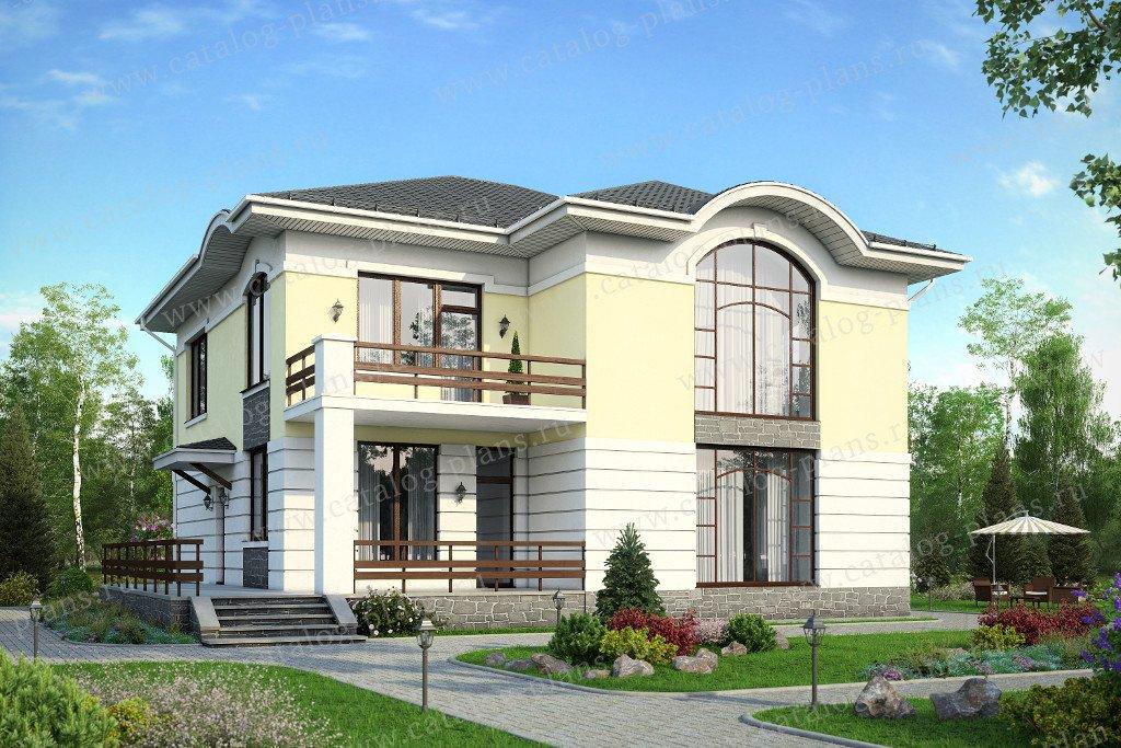 Проект жилой дом #57-61 материал - газобетон, стиль европейский
