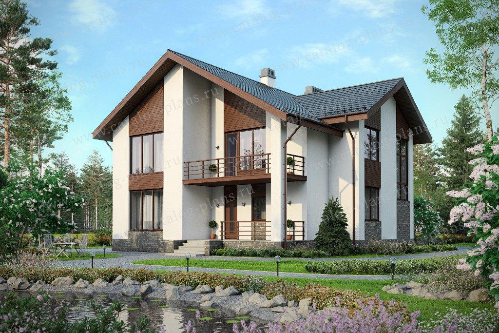 Проект жилой дом #57-58K материал - кирпич, стиль европейский
