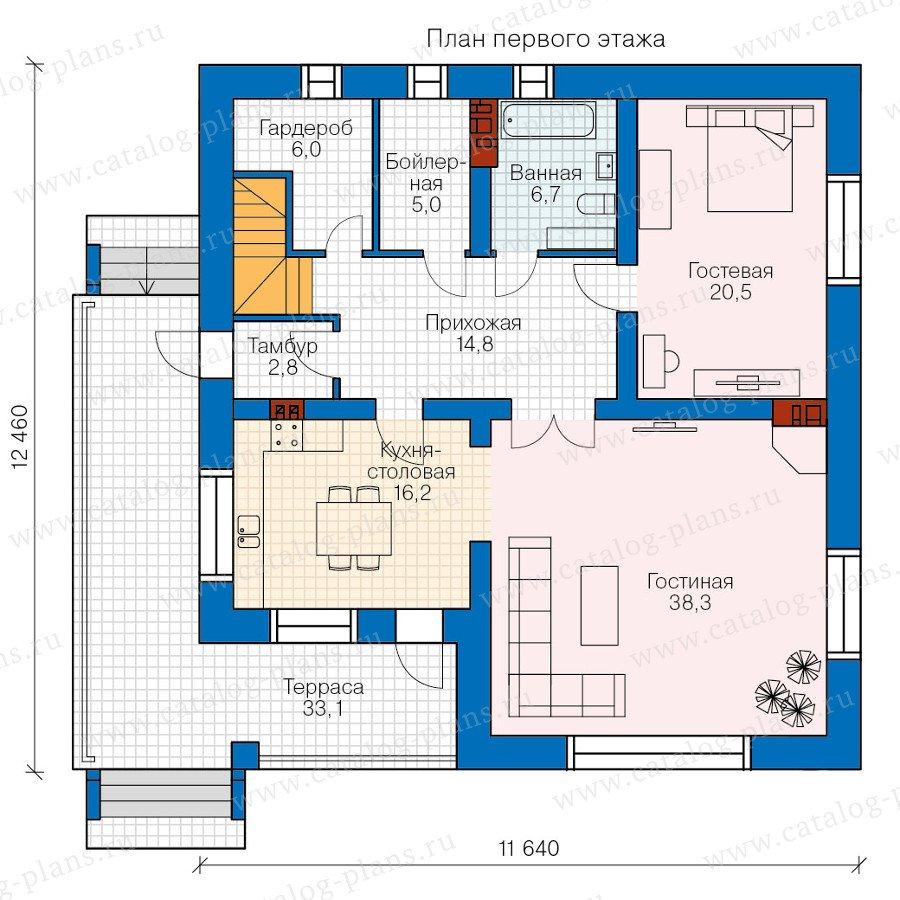 План 1-этажа проекта 57-61