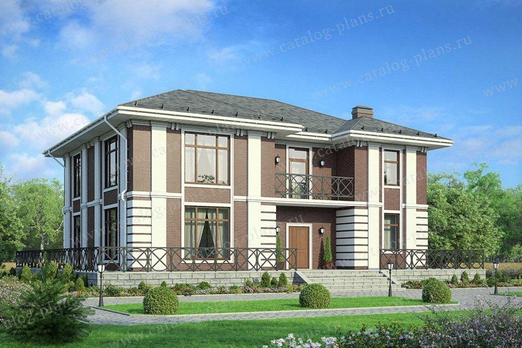 Проект жилой дом #40-36G материал - газобетон, стиль классический