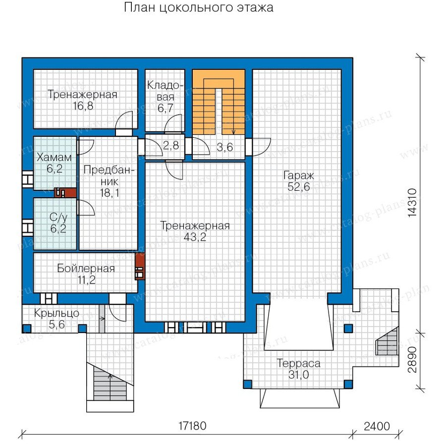 План 1-этажа проекта 40-32