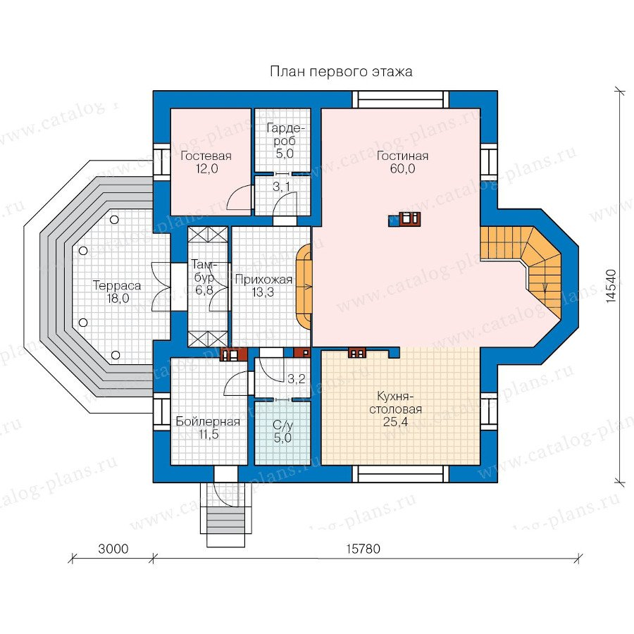 План 1-этажа проекта 40-41GL