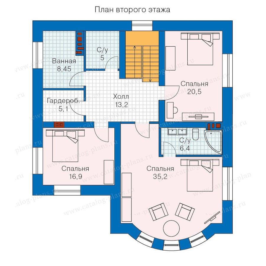 План 2-этажа проекта 57-60AK
