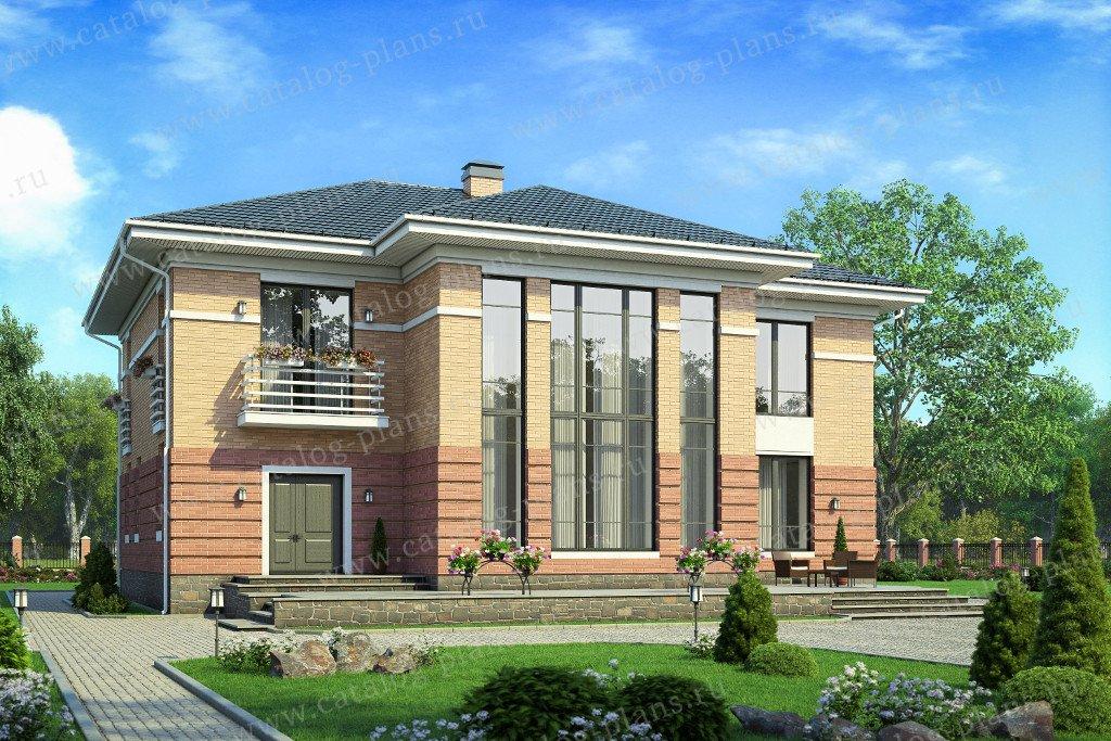 Проект жилой дом #40-39L материал - кирпич, стиль современный