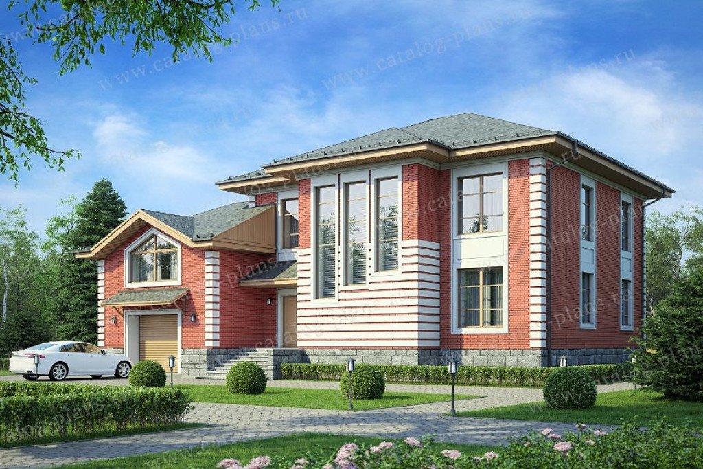 Проект жилой дом #40-37G материал - газобетон, стиль европейский