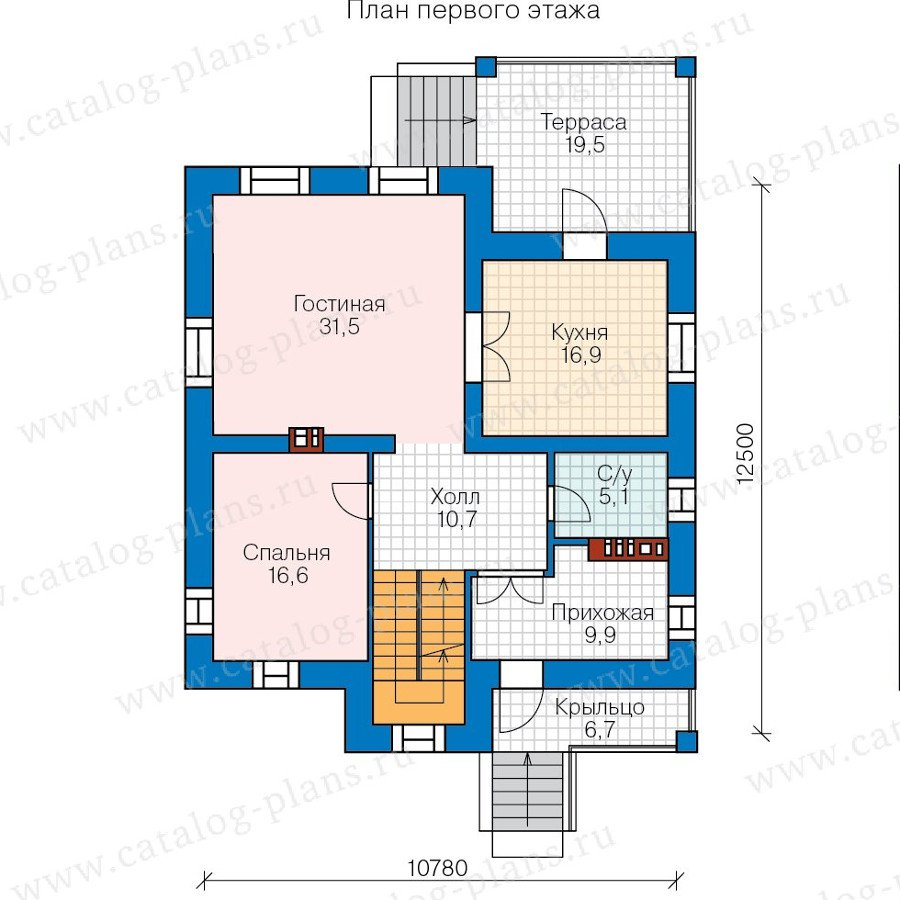 План 2-этажа проекта 57-66