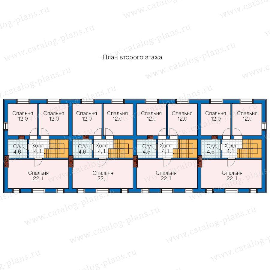План 2-этажа проекта 57-57