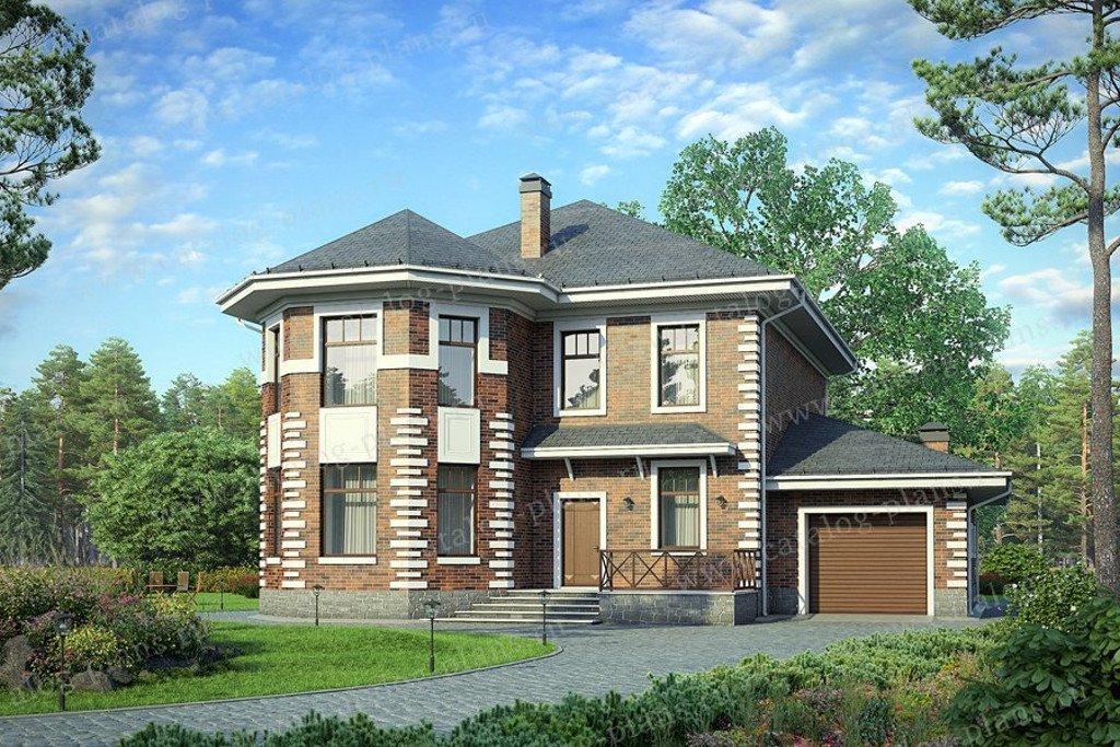Проект жилой дом #40-35 материал - кирпич, стиль европейский