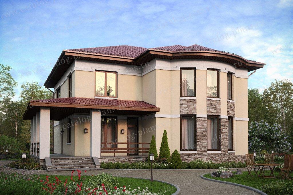 Проект жилой дом #57-60AK материал - кирпич, стиль европейский