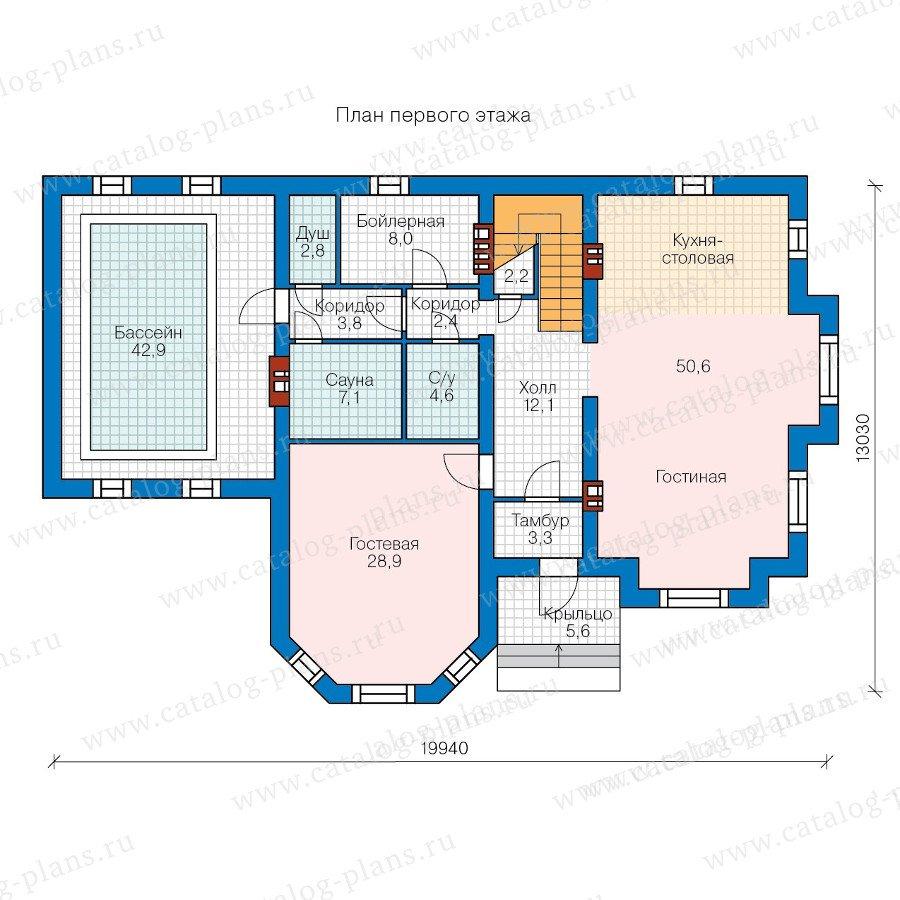 План 1-этажа проекта 40-42