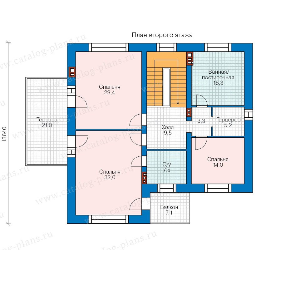 План 2-этажа проекта 40-40L