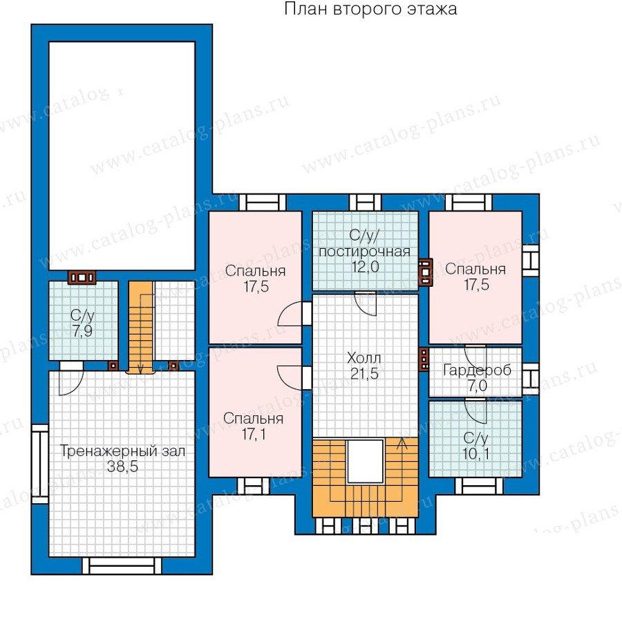 План 2-этажа проекта 40-37