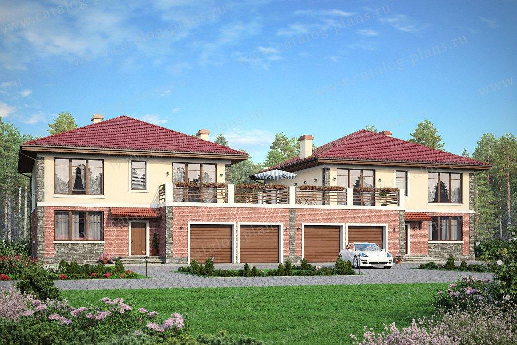 Проект жилой дом #57-86K материал - кирпич, стиль европейский