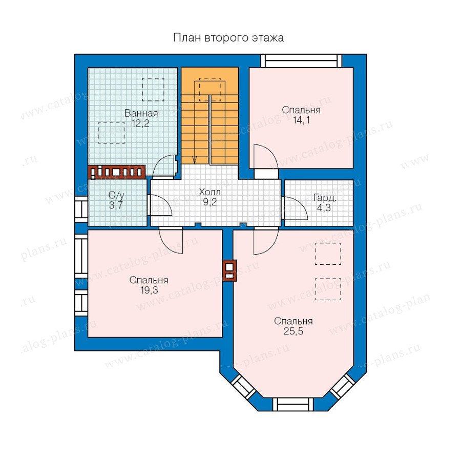 План 2-этажа проекта 57-79K
