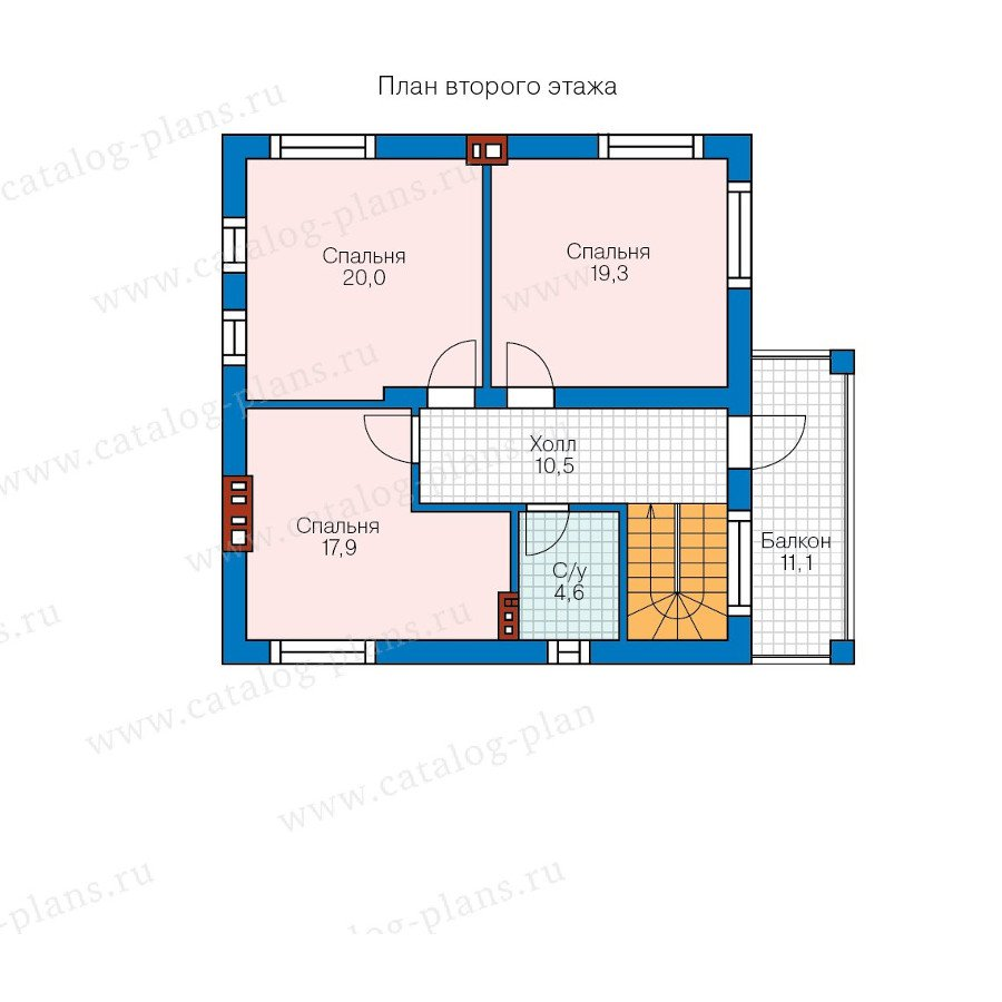 План 2-этажа проекта 57-91K