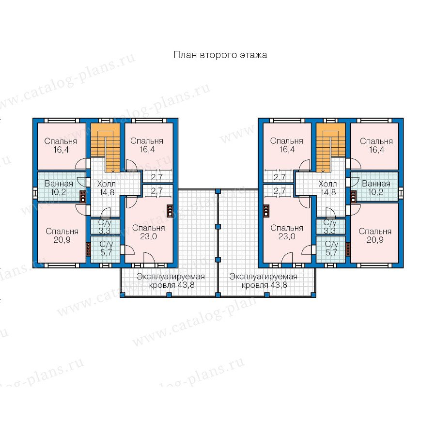 План 2-этажа проекта 57-86K