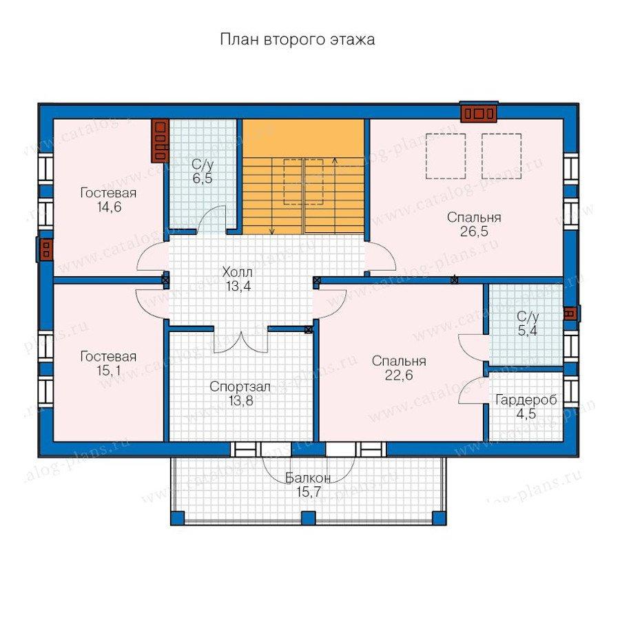План 2-этажа проекта 57-80