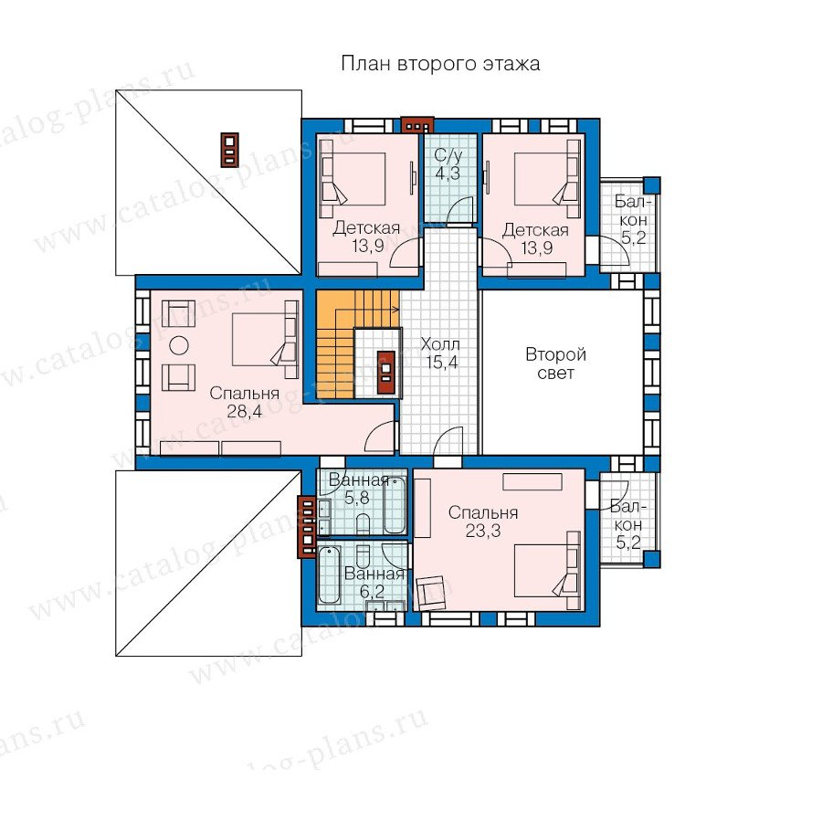 План 2-этажа проекта 57-82K