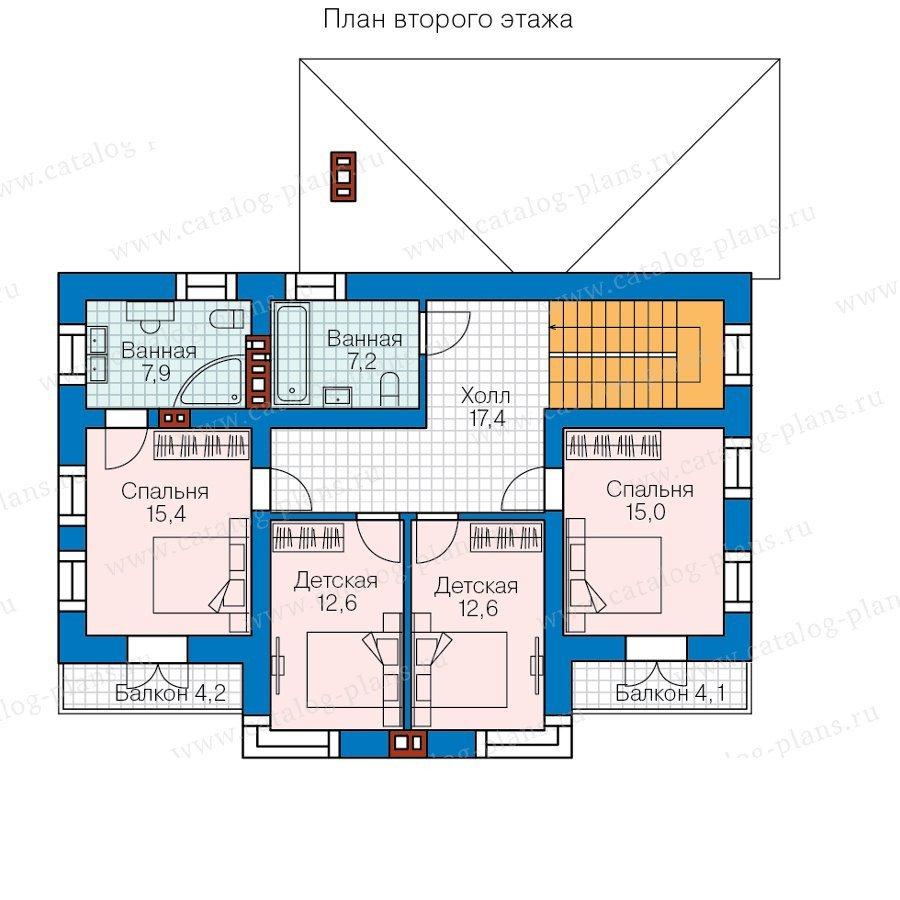 План 2-этажа проекта 57-90L