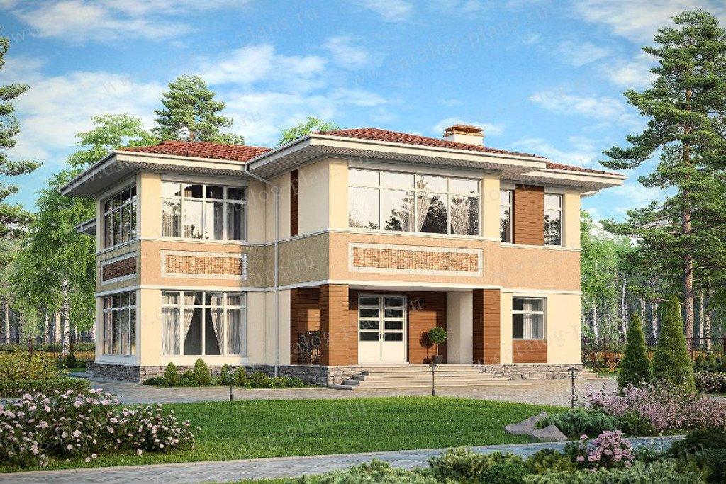 Проект жилой дом #57-77AK материал - кирпич, стиль европейский