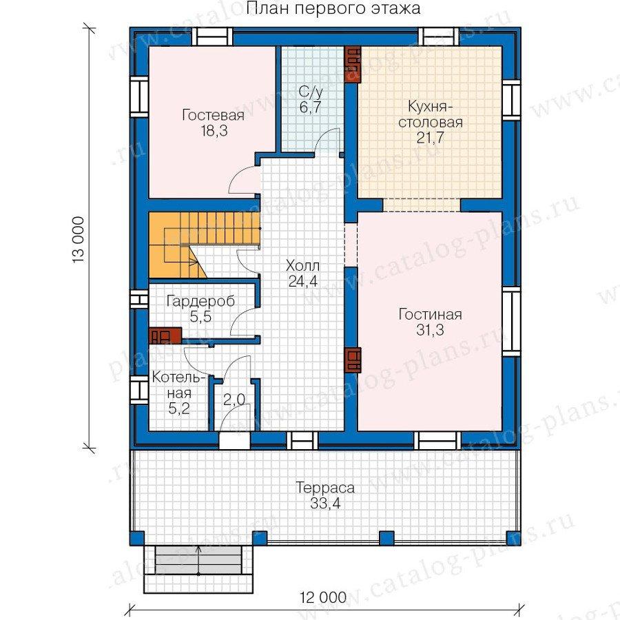 План 1-этажа проекта 57-78