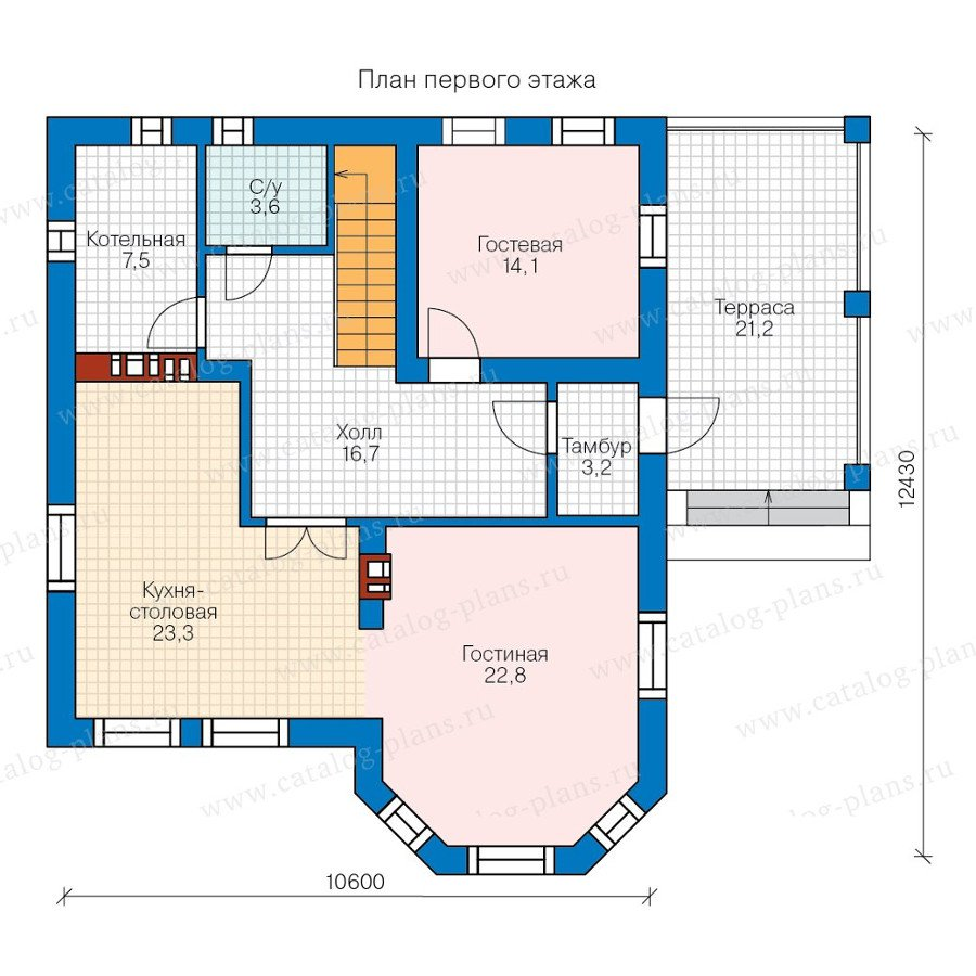 План 1-этажа проекта 57-79