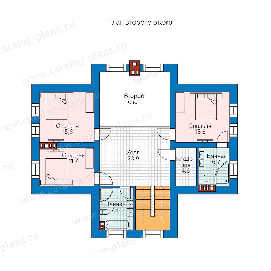 План 2-этажа проекта 57-85L