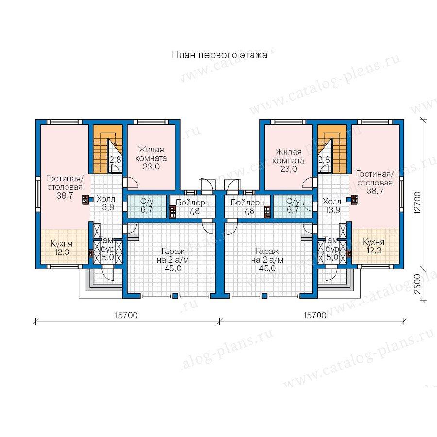 План 1-этажа проекта 57-86K