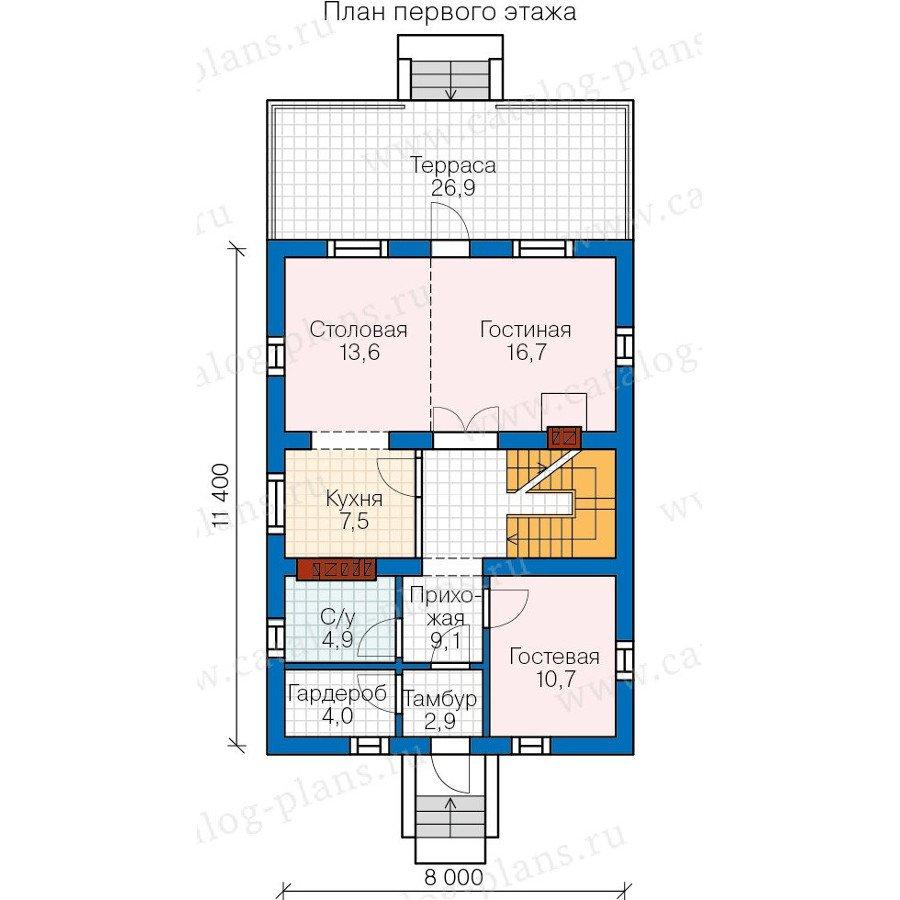 План 2-этажа проекта 57-73K