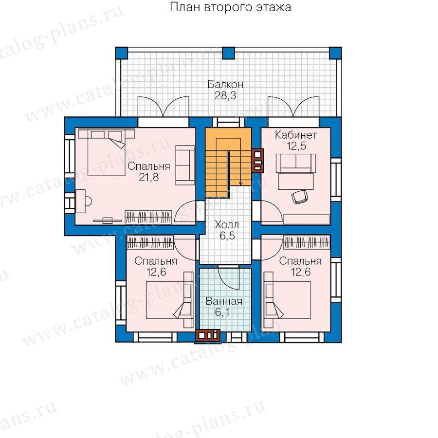 План 2-этажа проекта 57-95K