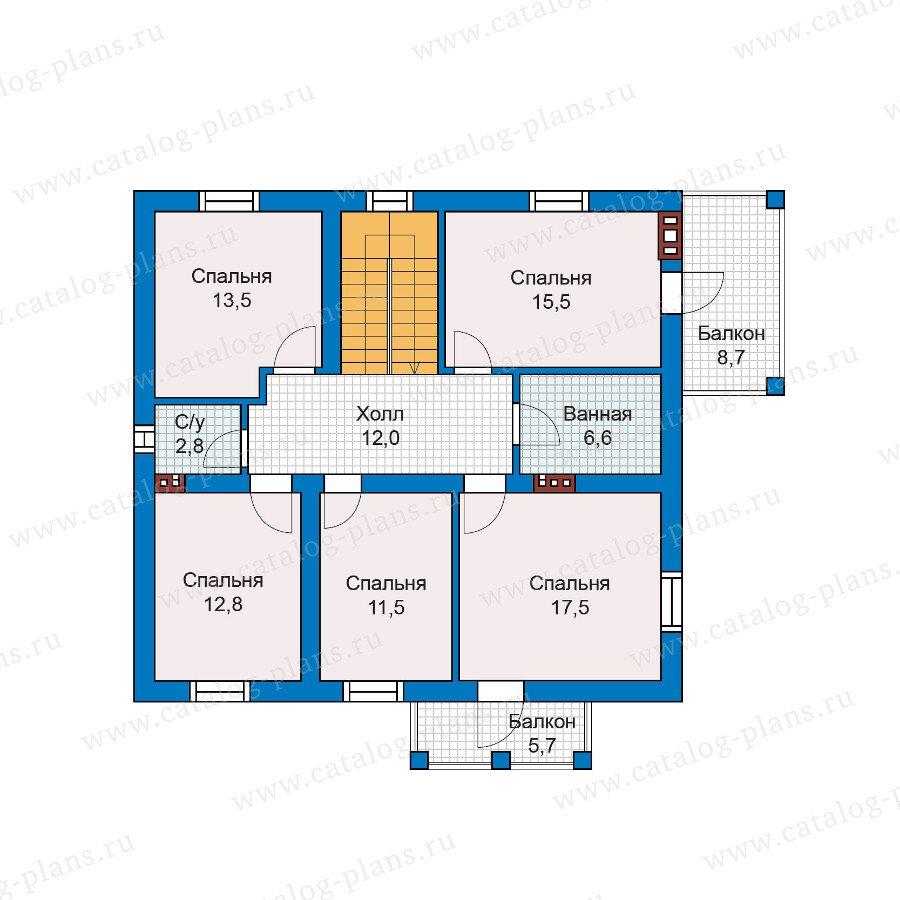 План 2-этажа проекта 57-46A
