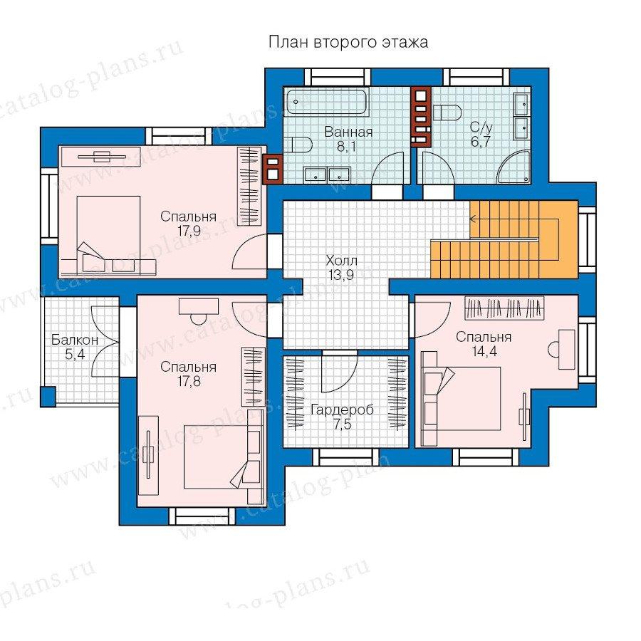 План 2-этажа проекта 57-98