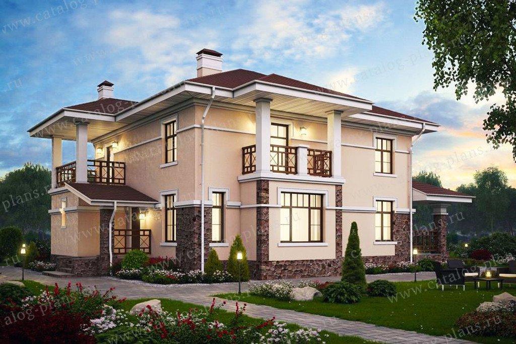 Проект жилой дом #57-46K материал - кирпич, стиль современный