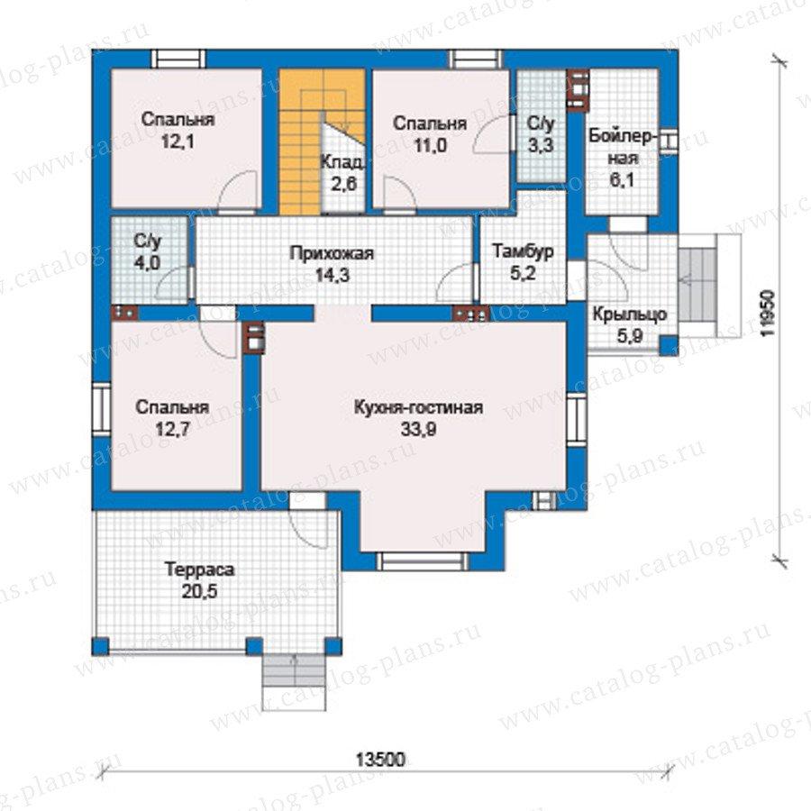 План 1-этажа проекта 57-46АКедрал