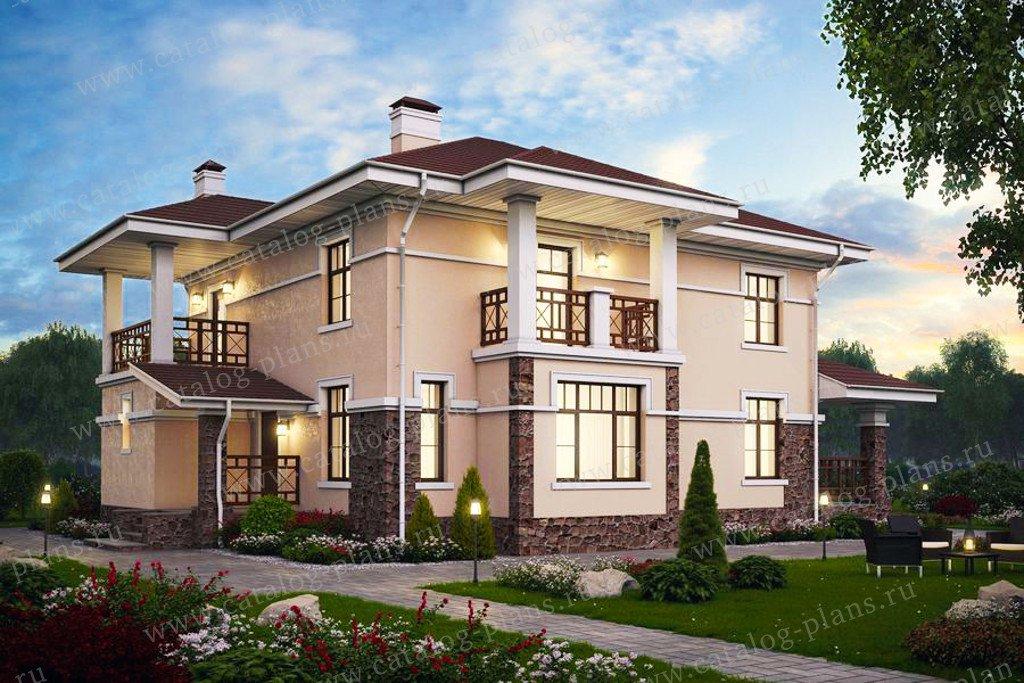 Проект жилой дом #57-46A материал - газобетон, стиль современный