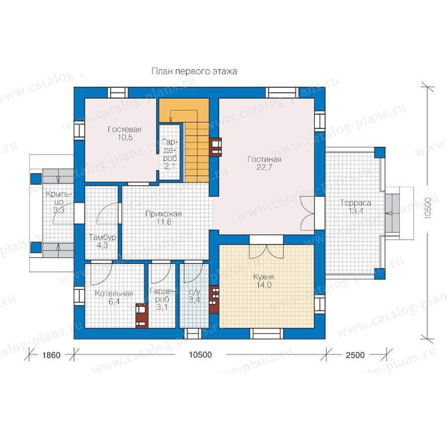 План 1-этажа проекта 57-05K