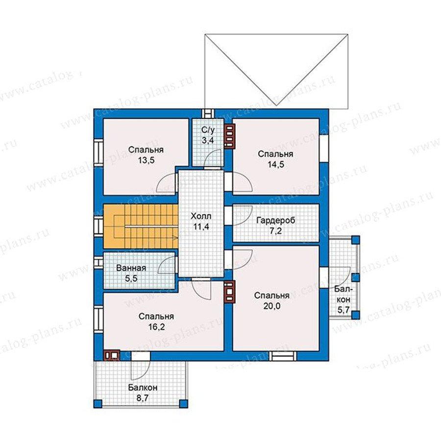 План 2-этажа проекта 57-46K