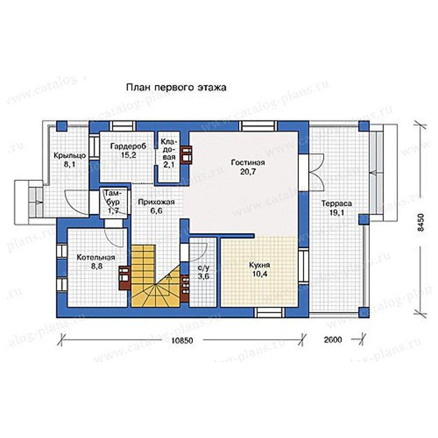 План 1-этажа проекта 57-07KB