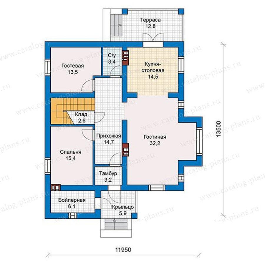 План 1-этажа проекта 57-46K