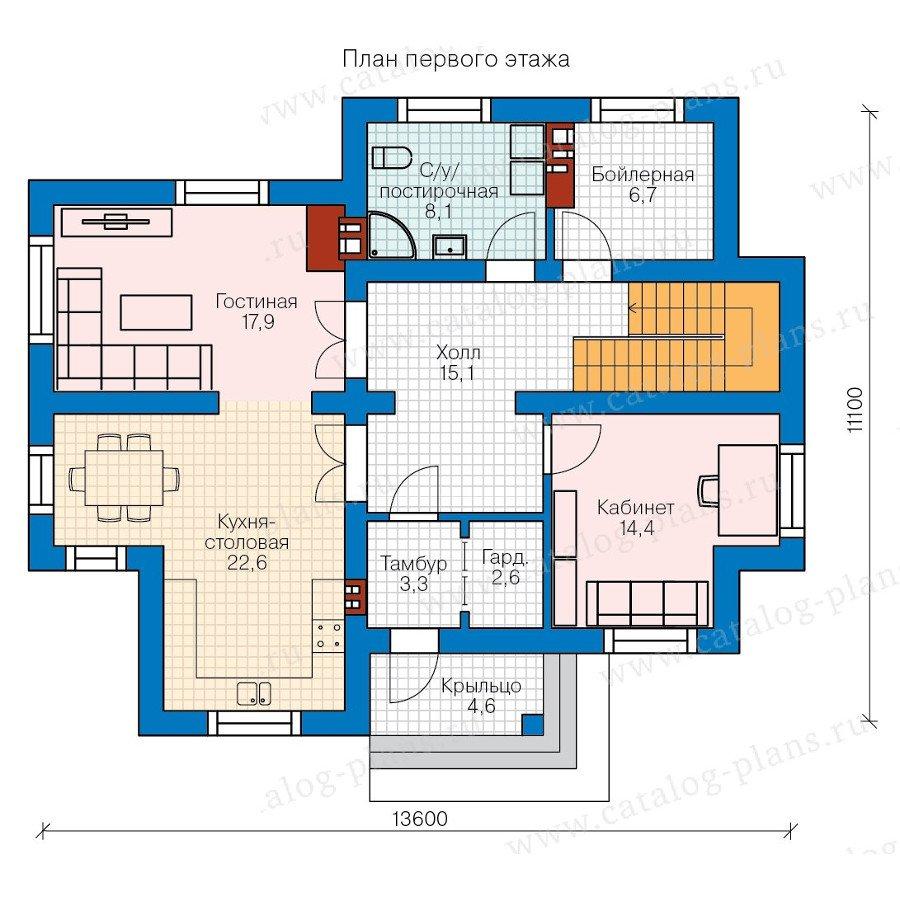 План 1-этажа проекта 57-98K