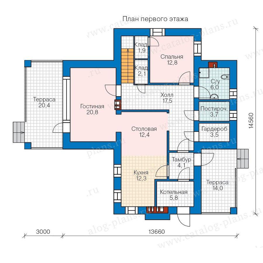 План 1-этажа проекта 57-94