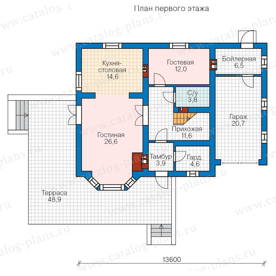 План 2-этажа проекта 57-75K