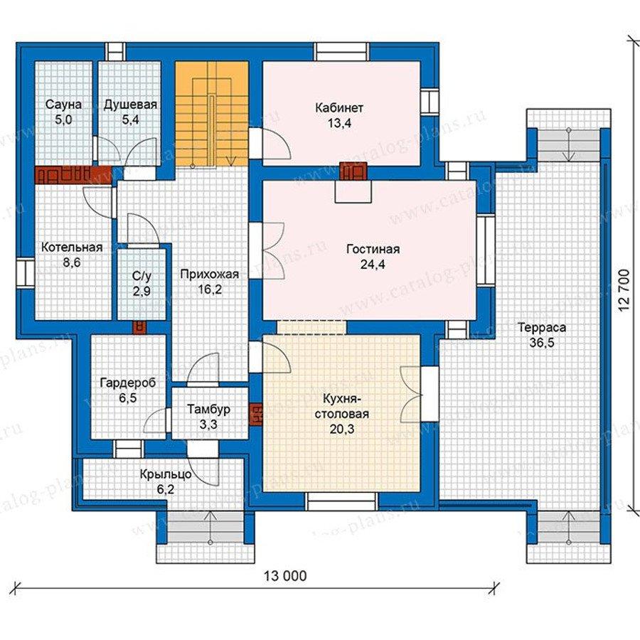 План 1-этажа проекта 57-49K