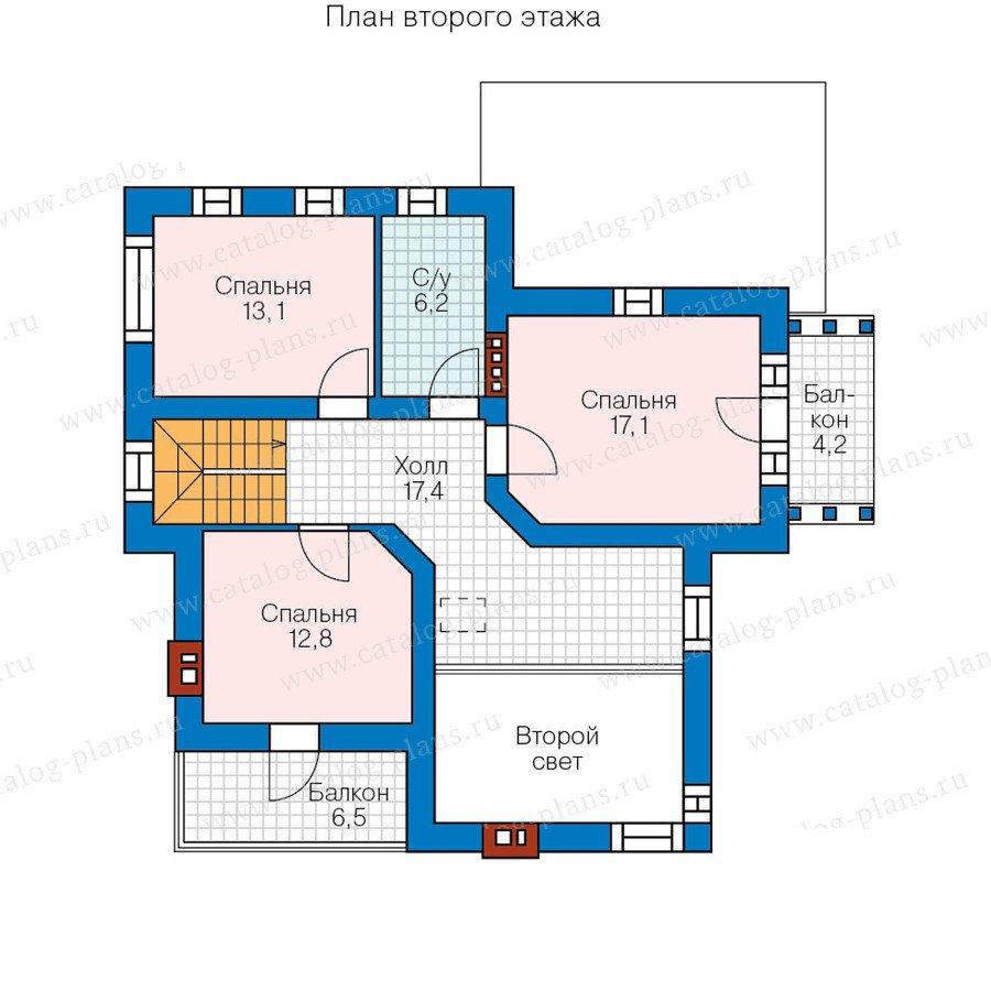 План 2-этажа проекта 57-68K
