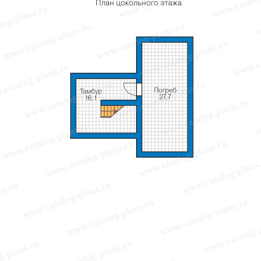 План 1-этажа проекта 57-75
