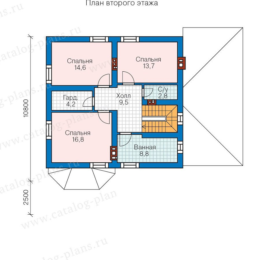 План 3-этажа проекта 57-75K
