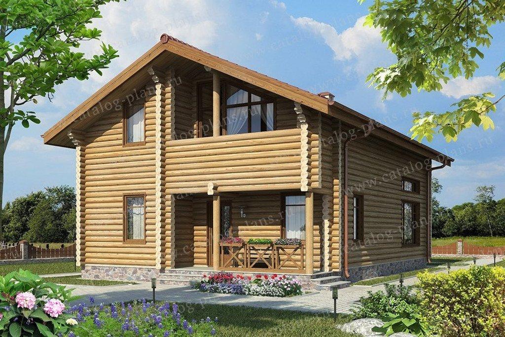 Проект жилой дом #49-71AB материал - дерево, стиль хай-тек